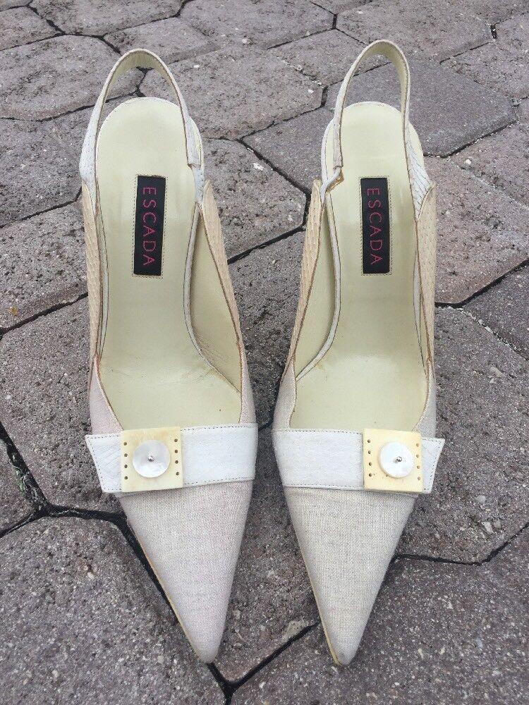 Escada kvinnor kvinnor kvinnor Sling Back skor Storlek 35.5  butiken gör köp och försäljning