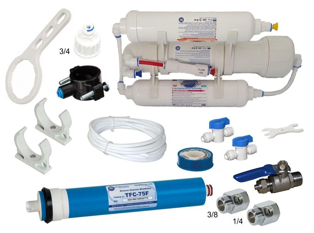 Osmoseanlage Wasserfilter 75 GPD für Hobby Urlaub Aquarium 75 GPD GPD GPD e2df0f
