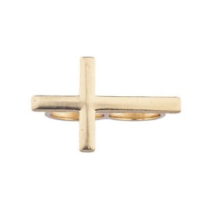 Lux-Accessories-Gold-Tone-Sideways-Cross-Double-Finger-Ring