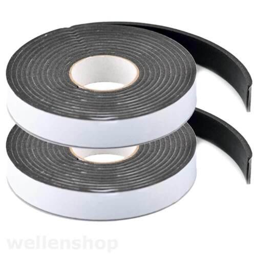 2 x 3m Dichtungsband 19mm x 3mm für Türen Fenster KFZ Boot wasserresistent
