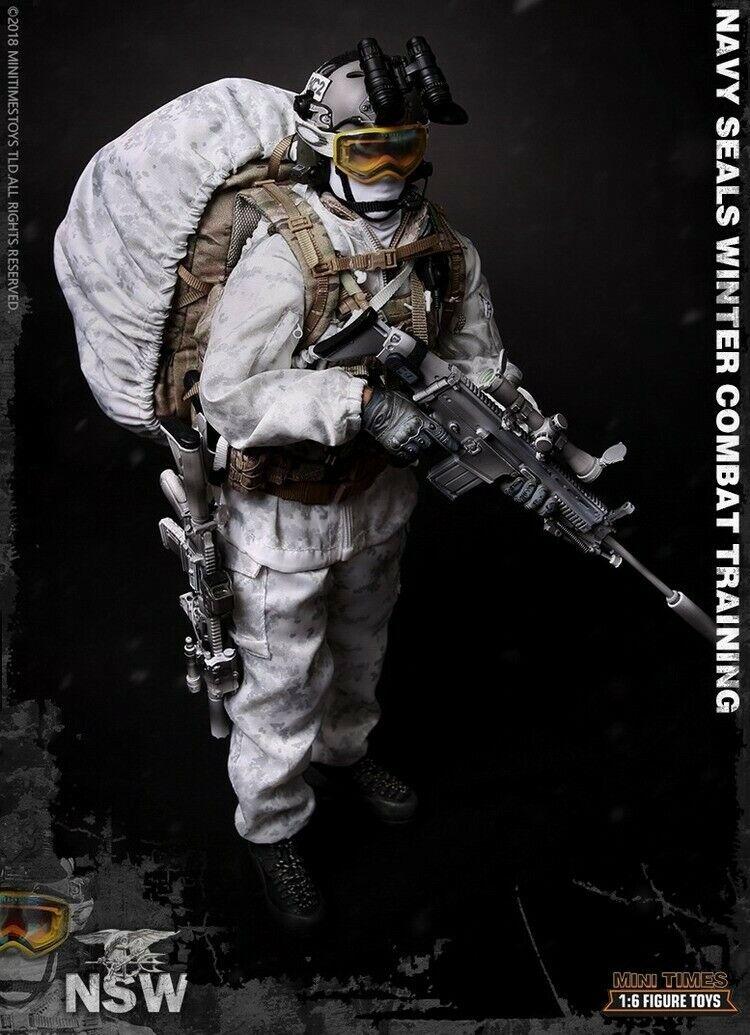 In-stock 1 6 Mini Times Leksaker M011 Åtgärder för Winter Combat Training verkan Figur