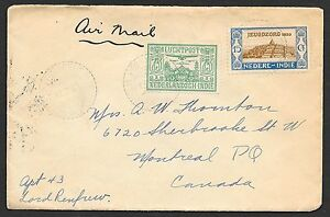 Netherlands Indies covers 1931 AIRMAILcover Tandjong-Priok to Montreal