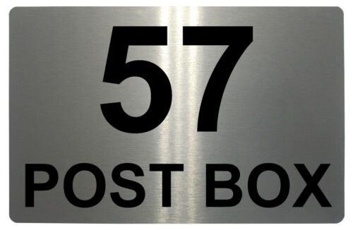 POST BOX Personalised Number Metal Aluminium Plaque Sign Door House Office Gate