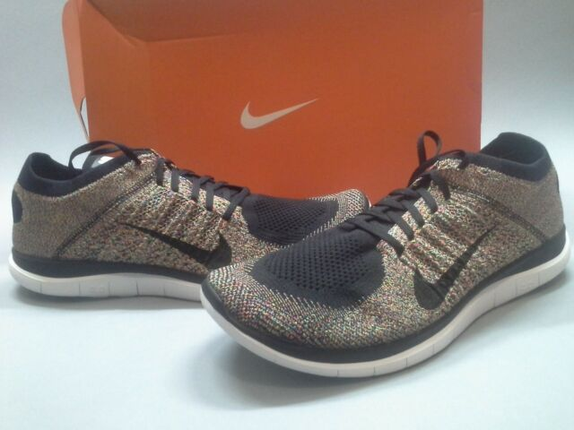 2014 New Nike Flyknit Free 4.0 Multi-Color 631053-004 Running Trainer 14 8 size