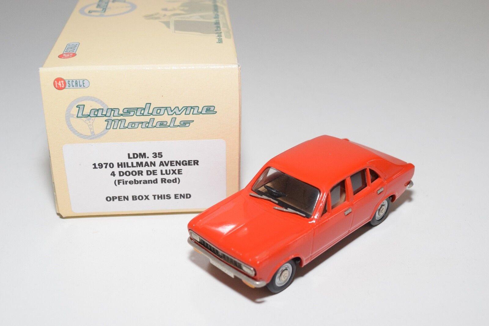 LANSDOWNE MODELS LDM 35 1970 HILLMAN AVENGER 4 DOOR DE LUXE rouge MINT BOXED