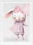 Maedchen-Kinderzimmer-Tier-Poster-Bilder-Babyzimmer-Deko-Kinderbilder-A4-A3-58 Indexbild 2
