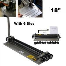 "18"" Bead Roller Kit Sheet Metal Steel Gear Drive Bench Mount Rolling Tool + Dies"