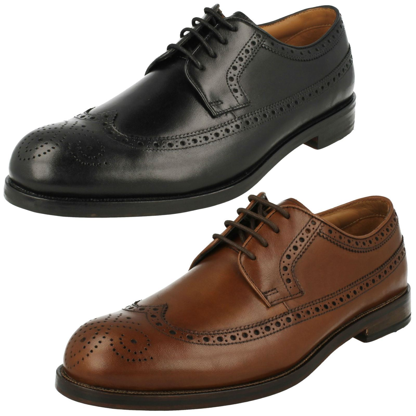 Mens Clarks Formal Brogue Style Shoes Coling Limit