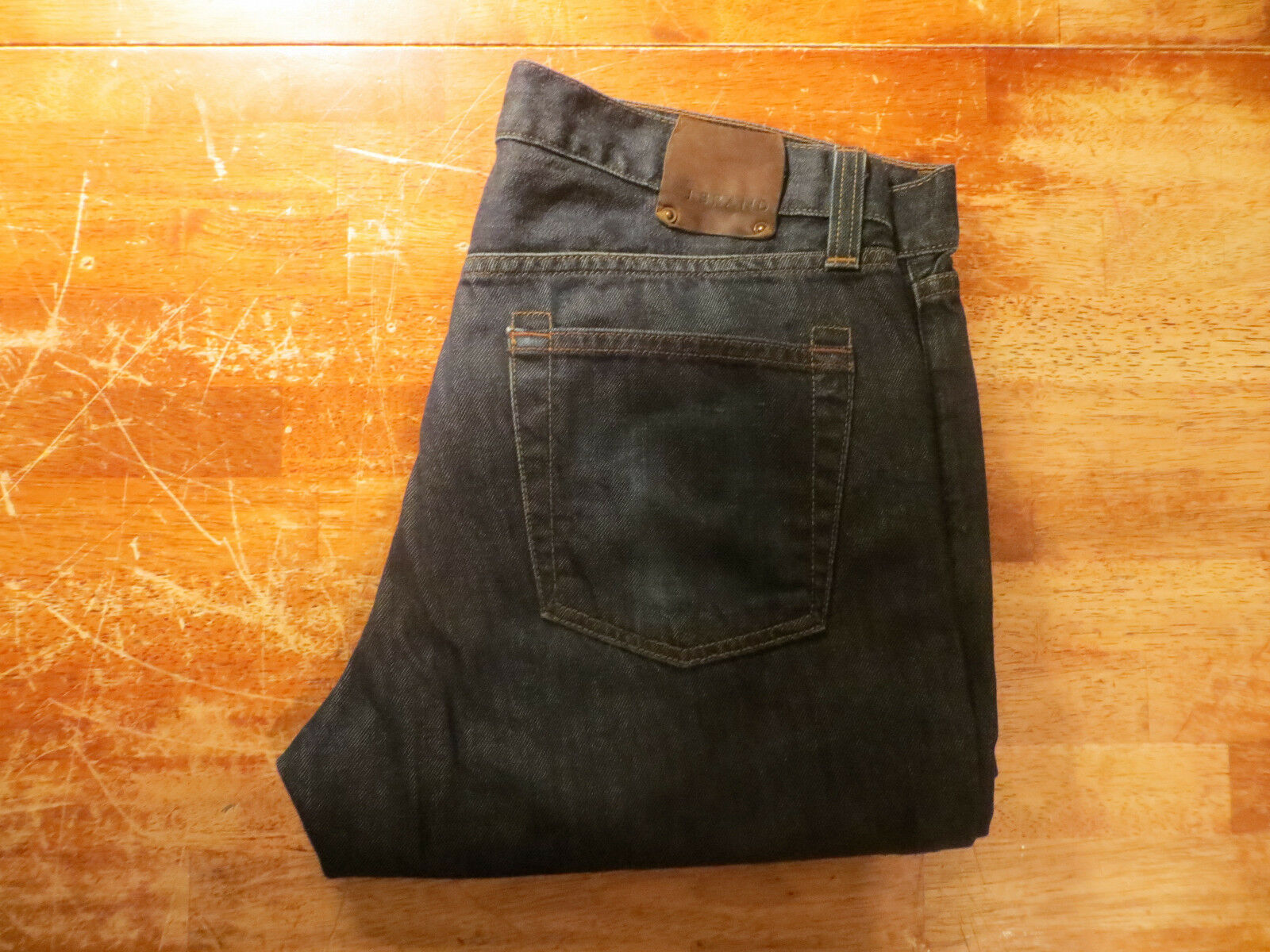 J BRAND FAIRLANE LOOSE STRAIGHT LEG JEANS IN BOONE WASH SIZE 34X31 VERY NICE