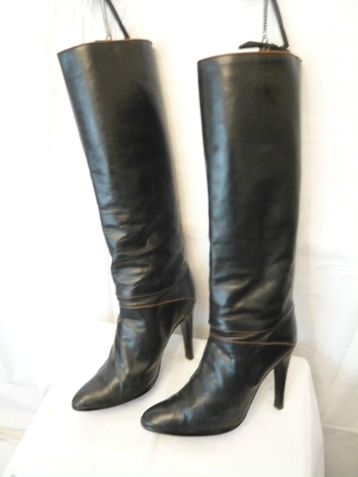 Stiefel vintage 1983  sexy  - Stiefelhersteller italienisch - schwarz - T .39,5