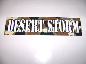 WHOLESALE LOT 50 DESERT STORM BUMPER STICKERS