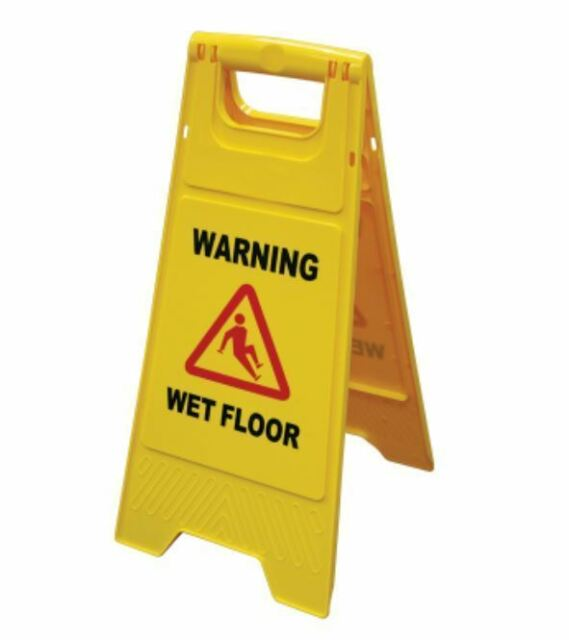 10 x Wet Floor Signs Caution Slippery Cleaning Hazard Warning A-Frame Safety