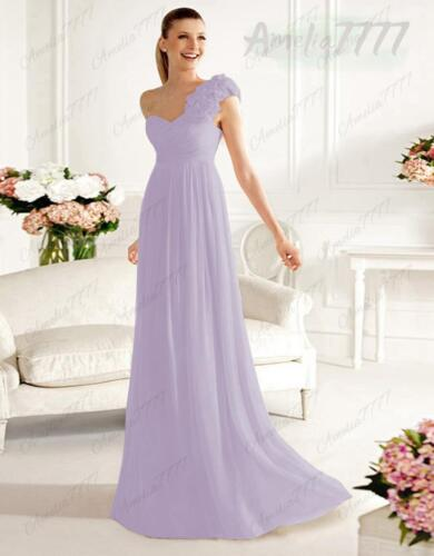 One Shoulder Long Dress Bridesmaid Evening Formal Party Ball Gown Prom Dresses
