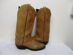 23c2a5c2162 Tony Lama Light Brown Leather Vintage Cowboy Boots Mens Size 8.5 D ...