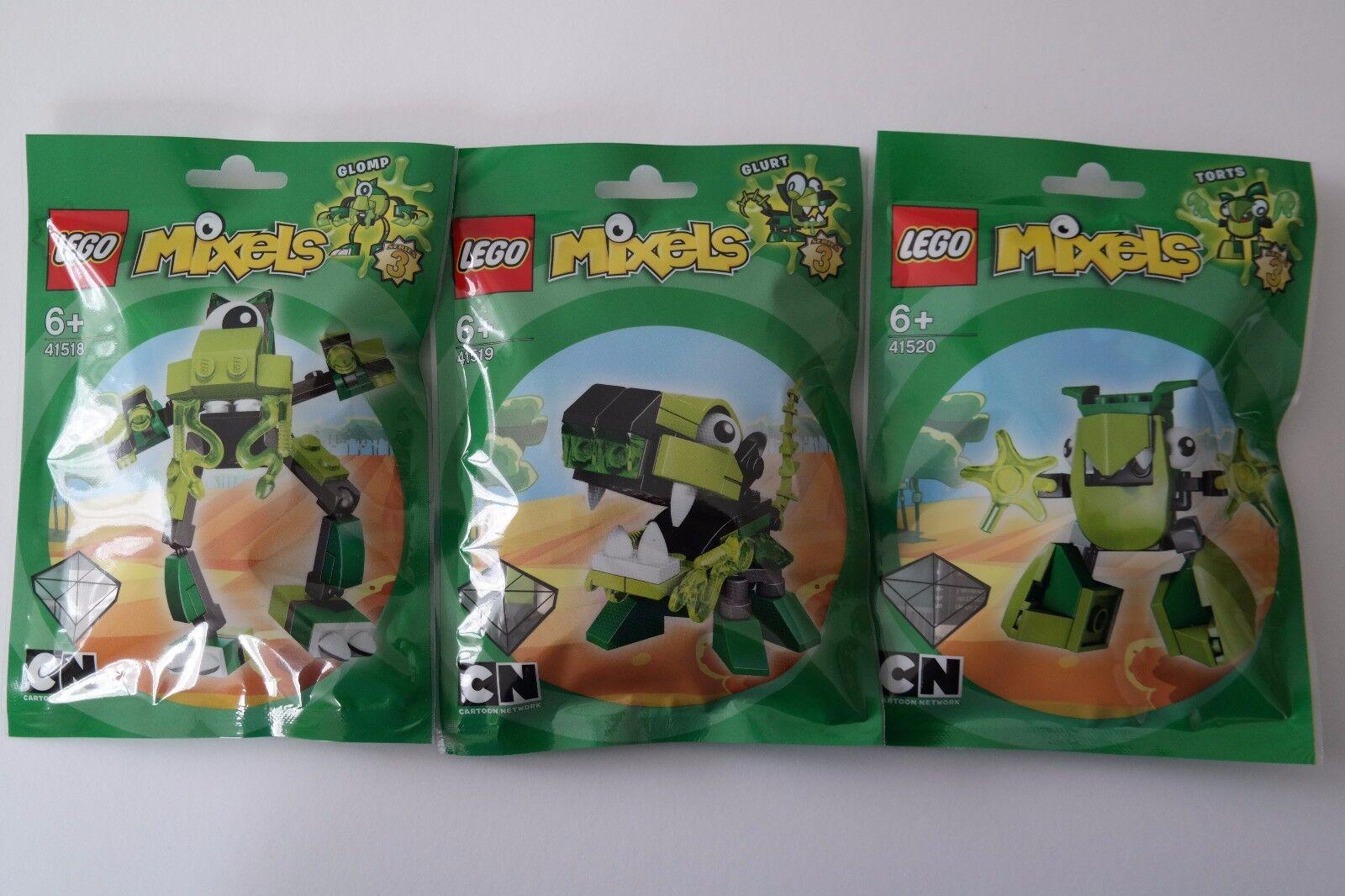 Lego 41518 Glomp 41519 Glurt 41520 torts-MIXELS série 3 NEUF