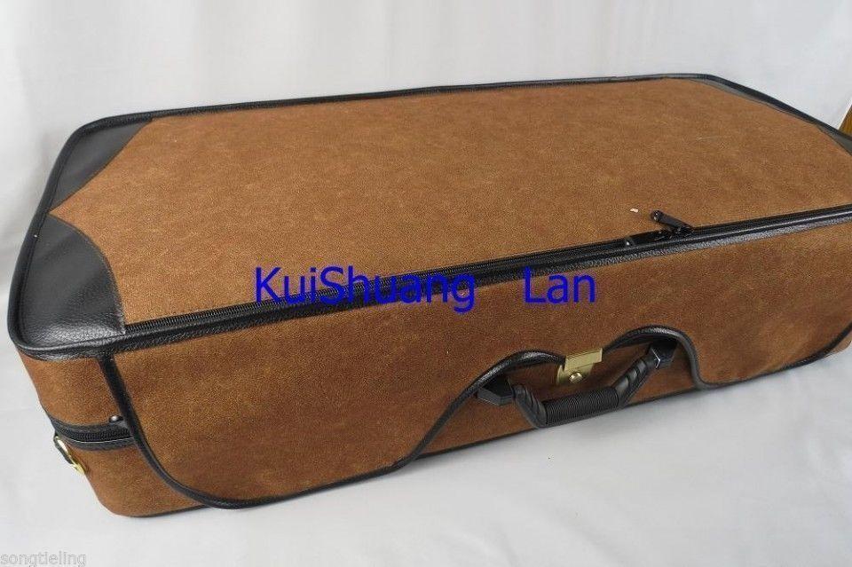 braun colour violin wooden case for 4pcs violins.4pcs bow holders