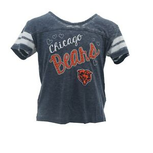 e5f49473 Details about Chicago Bears Official NFL Apparel Kids Youth Girls Sheer  T-Shirt New with Tags