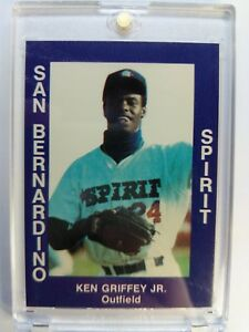 1988-88-San-Bernardino-Spirit-Cal-League-Ken-Griffey-Jr-XRC-Rookie-RC-34