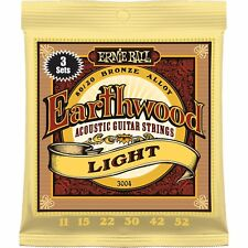 3-Pack Ernie Ball 2004 Earthwood Light Acoustic Guitar Strings 11-52 3004