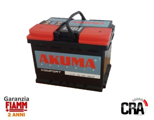AUTOBATTERIE AKUMA = FIAMM 44 AH 12V 360A EN ORIGINAL AUDI 80