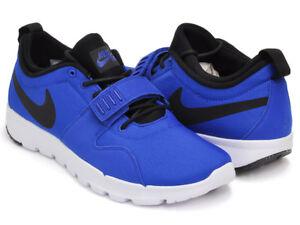 cheap for discount aba80 7e1a2 Image is loading Nike-SB-616575-Men-Black-Blue-Trainerendor-ACG-