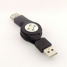 3Packs USB 2.0 A-Male to A-Female Extension Retractable Cable 100/% Pure Copper