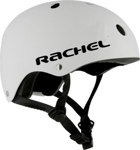 2 x Custom Name Helmet Stickers Vinyl Spider Font Ski BMX Bike Skateboard Snow