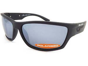 71e93258eaed Image is loading BLOC-BAIL-polarized-Sports-Sunglasses-Matt-Black-Grey-