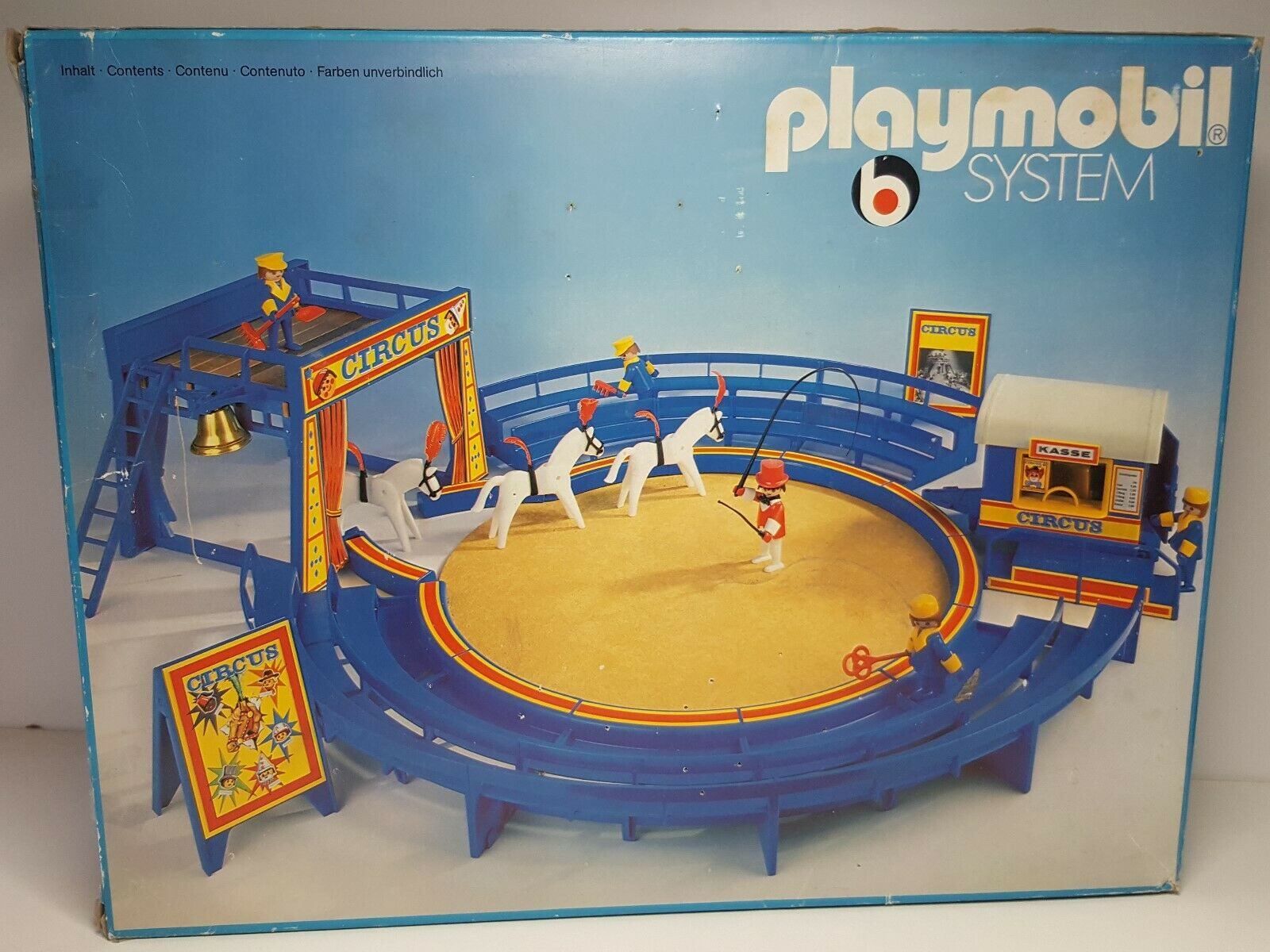 Dificil Raro Primer Circo Antiguo Playmobil System 3510 Completo Caja Circus