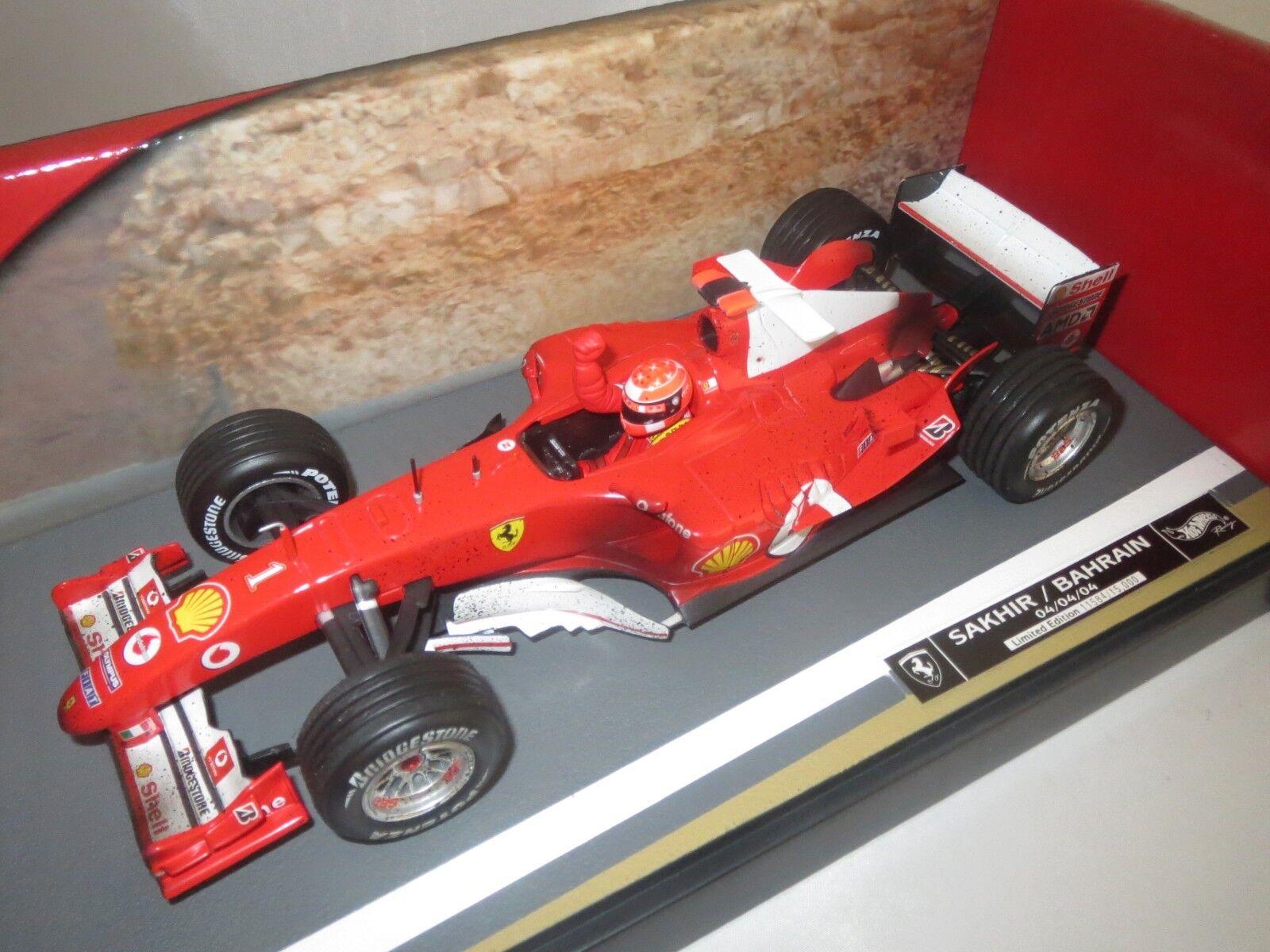 Hot Wheels Mattel  F2004 M.Schumacher  Sakhir   Bahrain   1  Schmutzv.  1 18 OVP  | Spielzeugwelt, spielen Sie Ihre eigene Welt