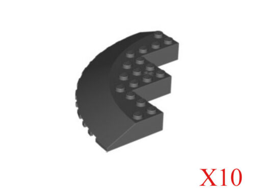 Lego Dark Bluish Gray Brick Round Corner 10 x 10 with Slope 33 Edge Lot of 10
