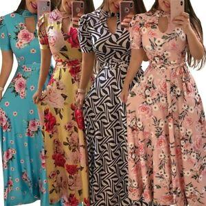 Plus-Size-S-5XL-Women-Maxi-Boho-Floral-Long-Dress-Summer-Beach-Sundress