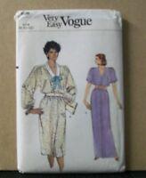 8696 Vogue Pattern Sewing Misses Dress Size 8 10 12 Short Or Long Uncut