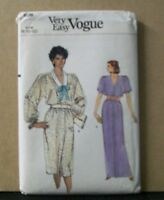 8696 Vogue Pattern Sewing Misses Dress Size 8 10 12 Short Or Long Uncut