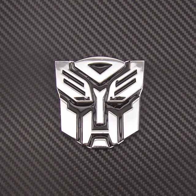 Chrome Metal Transformers Autobots Logo Emblem Sticker Exterior