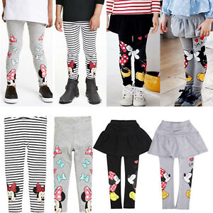 Baby-Kids-Girl-Cartoon-Mickey-Minnie-Leggings-Stretch-Skinny-Pants-Trousers-2-7T