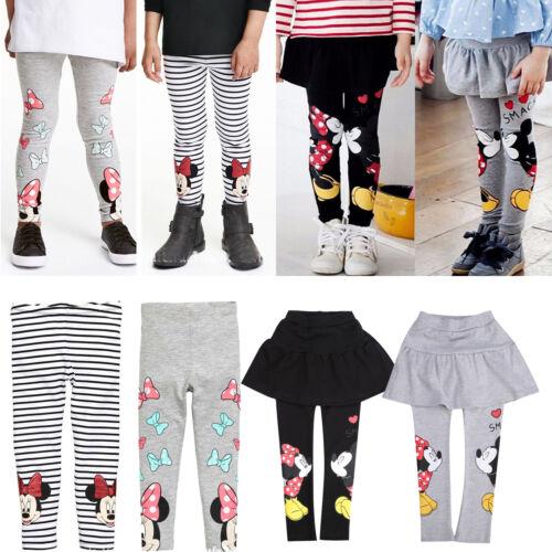 Kinder Mädchen Cartoon Micky Minnie Maus Leggings Winter Slim Hosen Freizeithose
