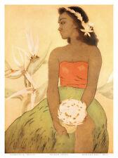 Hula Dancer, Royal Hawaiian Hotel Menu Cover c.1950s Art Print by John Kelly