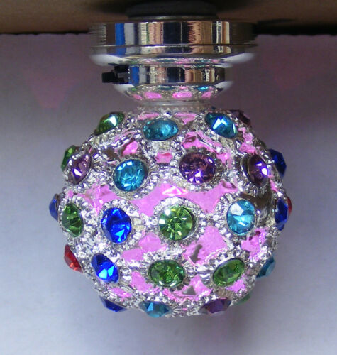 1:12 Maßstab Disco Farbe Wickel LED Batterie Licht Tumdee Puppenhaus Miniatur