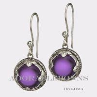 Authentic Lori Bonn Sterling Silver cute As A Button Earrings 11304hma