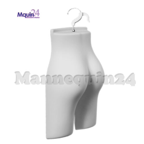 White Mannequin Female Butt Form with Hook for Hanging - Plastic Dress Form