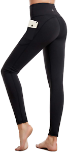 CAMBIVO High Waist Yoga Pants for Women, Non See through Workout Leggings with 2