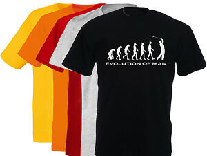 T-shirt-humoristique-homme-Evolution-of-man-GOLF-M-L-XL-NEUF-NEW