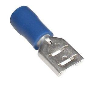 20 Flachsteckhülsen blau 6,3 x 0,8 mm Kabelschuhe 1,5-2,5mm² Flachsteckhülse