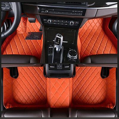 6 Colours leather Car Floor Mats Waterproof Mat For Acura TL 2004-2008