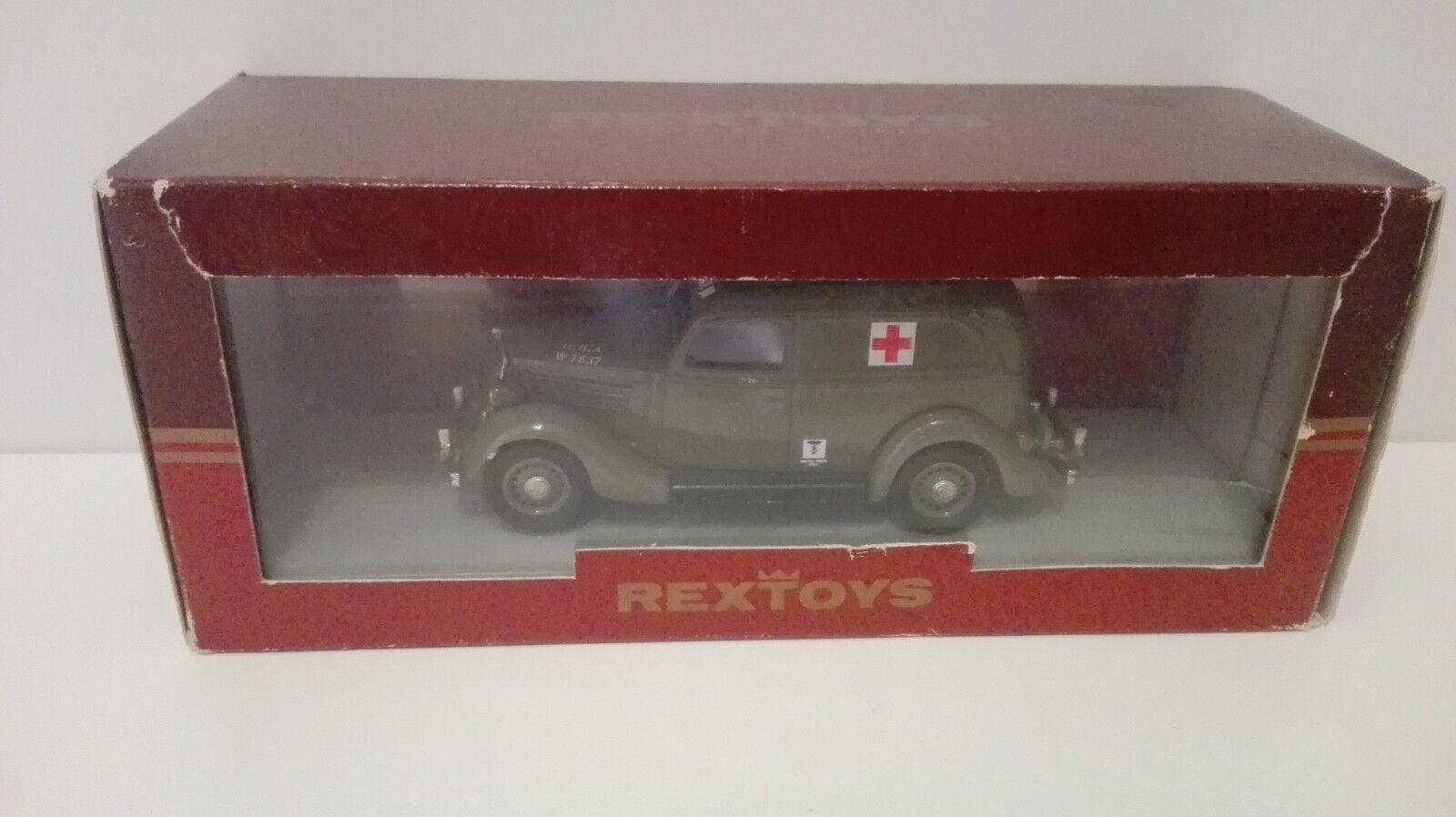 REXTOYS FORD 1935 FOURGONNETTE 45 Modello Modello Modello AMBULANCE MILITARE 1   43 1 43 0ec3d6