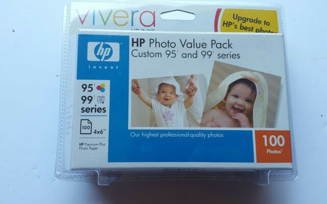 HP Photo Value Pack 95 Tri-Color & Photo Ink Cartridges 100 photos 5188-2239