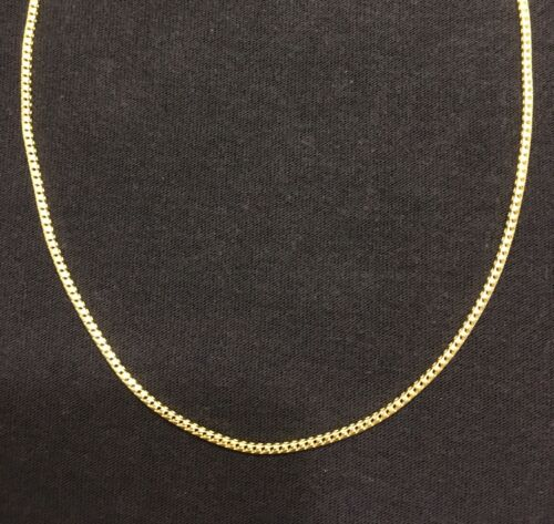 Details about  /Gold Chain 14k Gold Vermeil Franco 24in 2mm .925 Italy Stamped