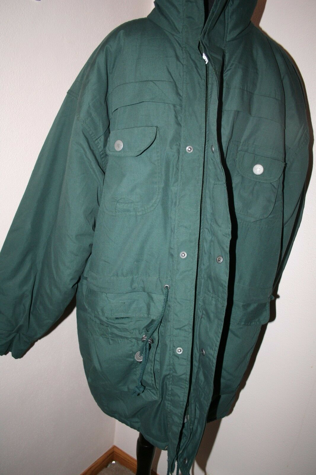 Men's Duffel Coat Parka LARGE Green Threads Unlim… - image 5