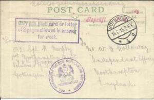 100% Vrai L'allemagne Gottingen P.g. Camp-colombie - 14/6/15 Wwi Censure London Paid-tish- 14/6/15 Wwi Censor - London Paid